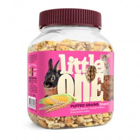 Лакомство для кроликов, грызунов Little One Snack Puffed grains воздушные зерна 100 г