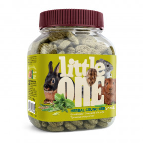 Лакомство для кроликов, грызунов Little One Snack Herbal crunchies травяные подушечки 100 г