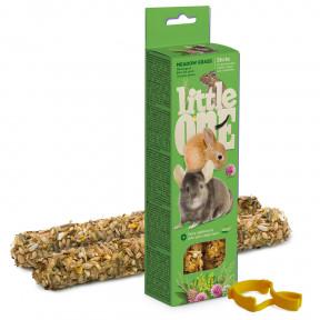 Лакомство для кроликов, грызунов Little One Sticks Meadow grass с луговыми травами 2 шт 55 г