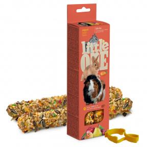Лакомство для кроликов, грызунов Little One Sticks Fruit с фруктами 2 шт 60 г