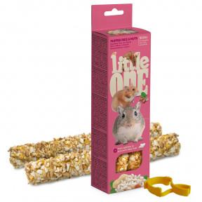 Лакомство для грызунов Little One Sticks Puffed rice & Nuts с воздушным рисом и орехами 2 шт 55 г