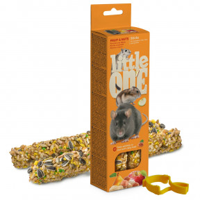 Лакомство для грызунов Little One Sticks Fruit & Nuts с фруктами и орехами 2 шт 60 г
