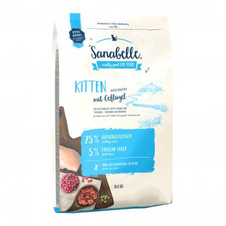 Сухой корм для котят Sanabelle Kitten с домашней птицей 2 кг
