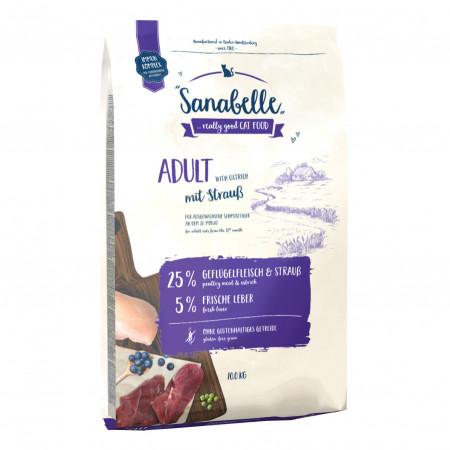 Сухой корм для кошек Sanabelle Adult со страусом 2 кг