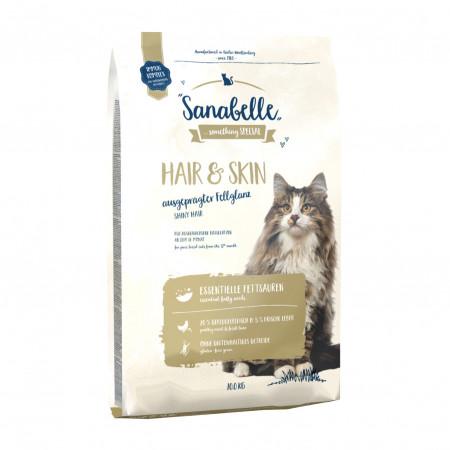 Сухой корм для кошек Sanabelle Hair&Skin для здоровья кожи и блеска шерсти, с домашней птицей 2 кг