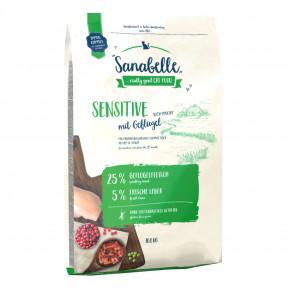 Сухой корм для кошек Sanabelle Sensitive при чувствительном пищеварении, с домашней птицей 10 кг
