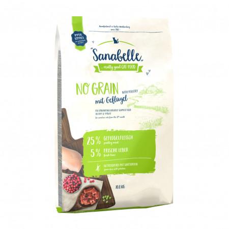 Сухой корм для кошек Sanabelle No Grain беззерновой, при чувствительном пищеварении, с домашней птицей 2 кг