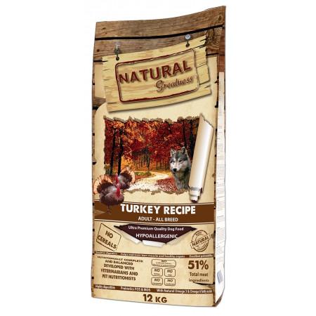Сухой корм для собак Natural Greatness Turkey Recipe Adult All Breed беззерновой, с индейкой, с уткой, с курицей 12 кг