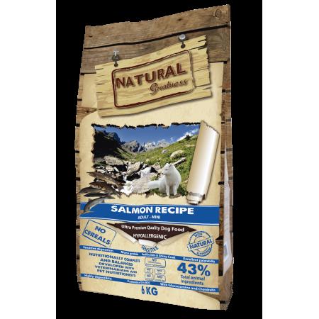 Сухой корм для собак Natural Greatness Salmon Recipe Adult Mini беззерновой, с лососем, с картофелем (для мелких пород) 6 кг