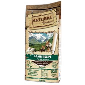 Сухой корм для собак всех пород и возрастов Natural Greatness Lamb Recipe беззерновой, при чувствительном пищеварении, с ягненком 12 кг