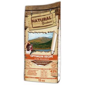 Сухой корм для собак всех возрастов Natural Greatness Optimum Recipe Mini & Medium низкозерновой, с индейкой, с курицей (для мелких и средних пород) 12 кг