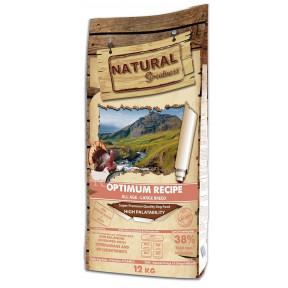 Сухой корм для собак всех возрастов Natural Greatness Optimum Recipe Large Breed низкозерновой, с индейкой, с курицей (для крупных пород) 12 кг