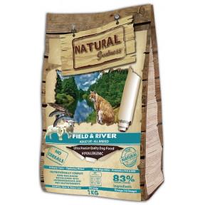 Сухой корм для кошек Natural Greatness Field & River Adult Cat беззерновой, с лососем, с ягненком 2 кг