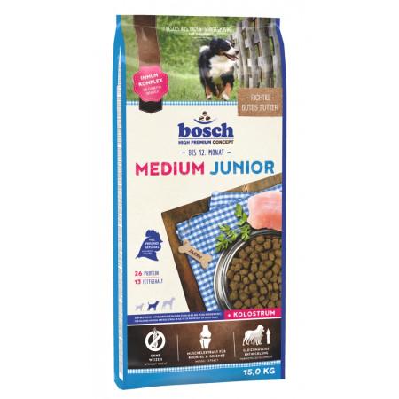 Сухой корм для щенков Bosch Junior Medium с домашней птицей (для средних пород) 15 кг