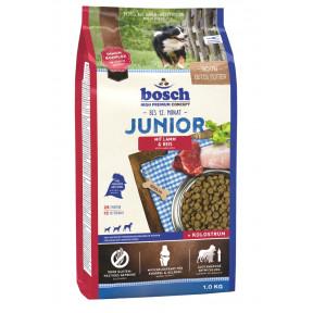 Сухой корм для щенков Bosch Junior при чувствительном пищеварении, ягненок с рисом 1 кг