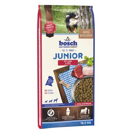 Сухой корм для щенков Bosch Junior при чувствительном пищеварении, ягненок с рисом 15 кг