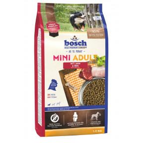 Сухой корм для собак Bosch Mini Adult при чувствительном пищеваркнии, с ягненком с рисом (для мелких пород) 1 кг