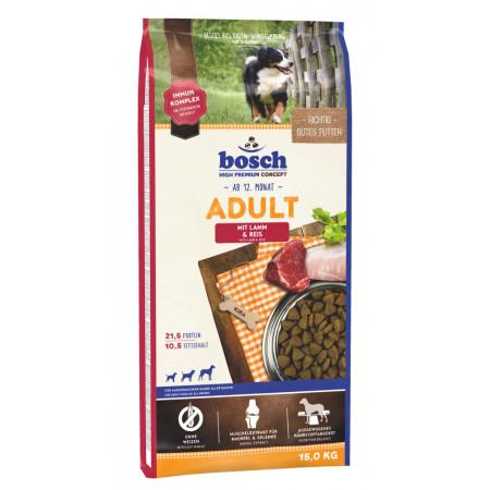 Сухой корм для собак Bosch Adult при чувствительном пищеваении, с ягненком с рисом 15 кг