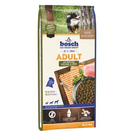 Сухой корм для собак Bosch Adult с домашней птицей, с просом 15 кг