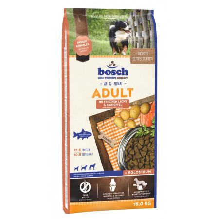Сухой корм для собак Bosch Adult при чувствительном пищеварении, с лососем с картофелем 15 кг