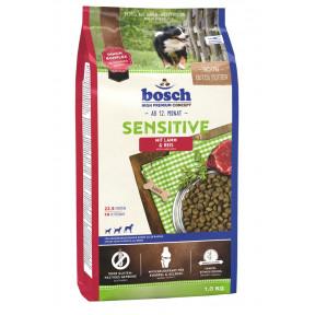 Сухой корм для собак Bosch Sensitive при чувствительном пищеварении, с ягнёнком и рисом 1 кг