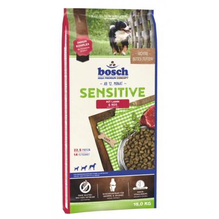 Сухой корм для собак Bosch Sensitive при чувствительном пищеварении, с ягнёнком и рисом 15 кг