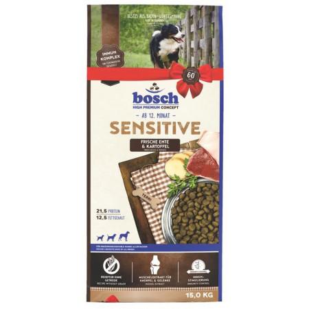 Сухой корм для собак Bosch Sensitive беззерновой, при чувствительном пищеварении, с уткой с картофелем 15 кг