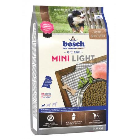 Сухой корм для собак Bosch Mini Light при склонности к избыточному весу, с домашней птицей (для мелких пород) 2.5 кг