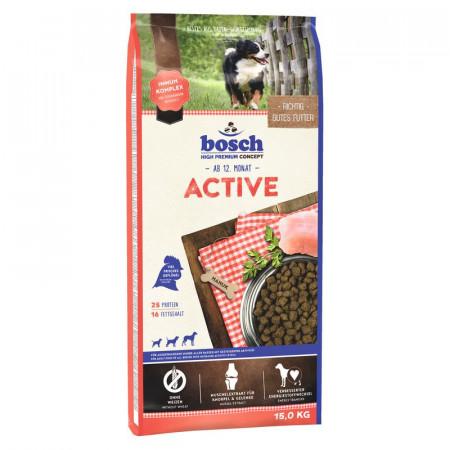 Сухой корм для активных собак Bosch Active при повышенной активности, с домашней птицей 15 кг