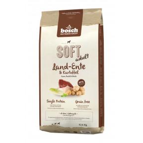 Полувлажный корм для собак Bosch Soft беззерновой, с уткой с картофелем 12.5 кг