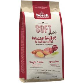 Полувлажный корм для собак Bosch Soft Maxi беззерновой, с буйволом с бататом (для крупных пород) 1 кг