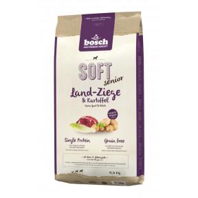 Полувлажный корм пожилых для собак Bosch Soft Senior беззерновой, с козлятиной и картофелем 12.5 кг