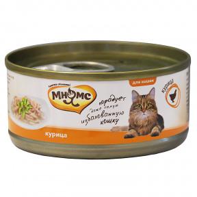 Влажный корм для кошек Мнямс с курицей (кусочки в желе) 70 г