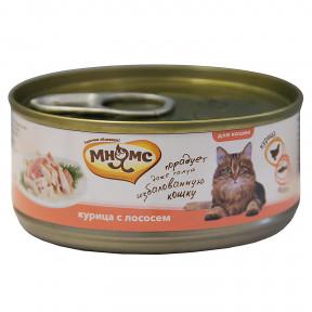 Влажный корм для кошек Мнямс Курица с лососем (кусочки в желе) 70 г
