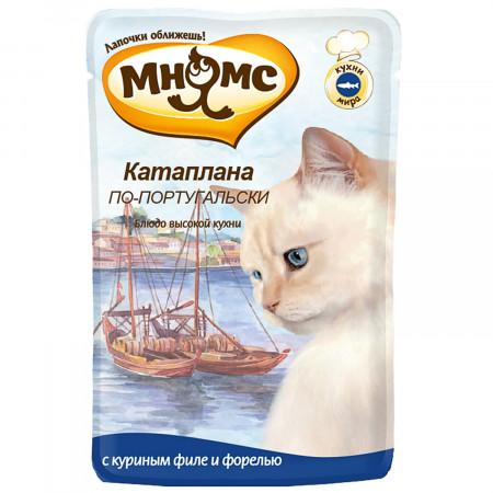 Влажный корм для кошек Мнямс Кухни мира Катаплана по-португальски с форелью 85 г