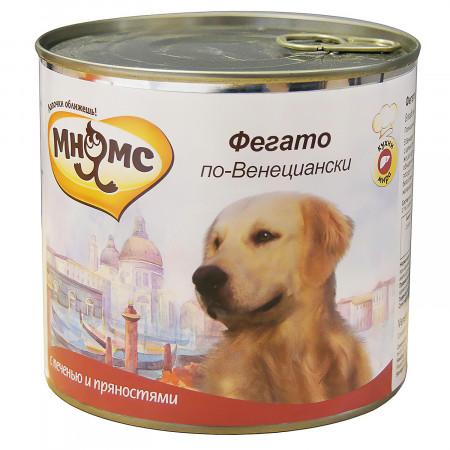 Влажный корм для собак Мнямс Кухни мира Фегато по-венециански с телячьей печенью с пряностями 600 г