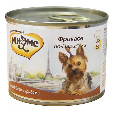 Влажный корм для собак Мнямс Кухни мира Фрикасе по-парижски с индейкой c грибами 200 г