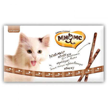 Лакомство для кошек Мнямс лакомые палочки с индейкой и ягненком 10 шт., 50 г