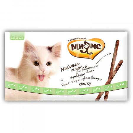 Лакомство для кошек Мнямс лакомые палочки с уткой и кроликом 10 шт., 50 г