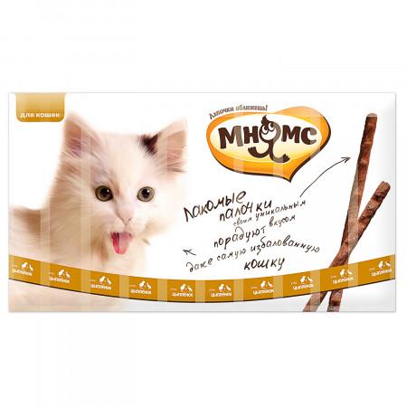 Лакомство для кошек Мнямс лакомые палочки с цыпленком и уткой 10 шт., 50 г