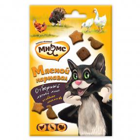 Лакомство для кошек Мнямс Мясной карнавал с уткой, индейкой, курицей 50 г