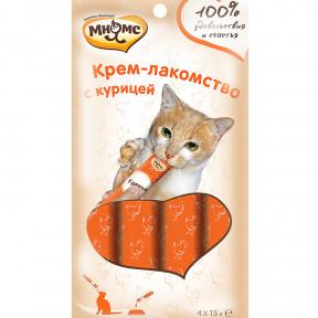 Мнямс Крем-лакомство для кошек с курицей 60 г