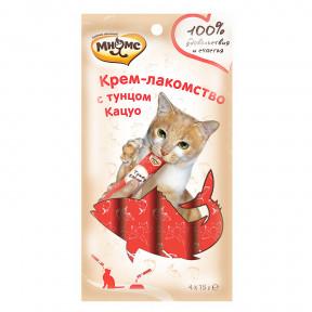 Мнямс Крем-лакомство для кошек с тунцом Кацуо 60 г