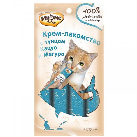 Мнямс Крем-лакомство для кошек с тунцом Кацуо и Магуро 60 г