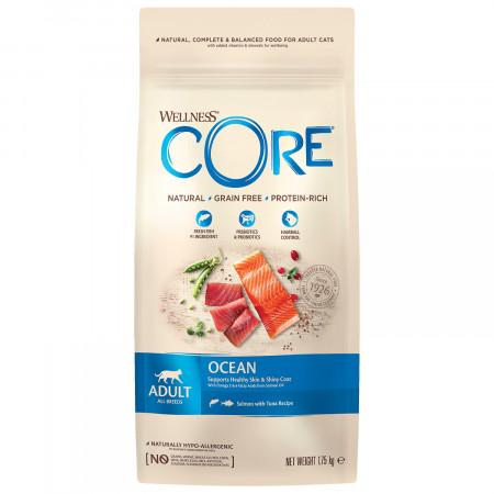 Сухой корм для кошек Wellness CORE Ocean беззерновой, с лососем с тунцом 1.75 кг