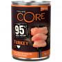 Влажный корм для собак Wellness CORE 95% Single Protein беззерновой, с индейкой с капустой кале 400 г