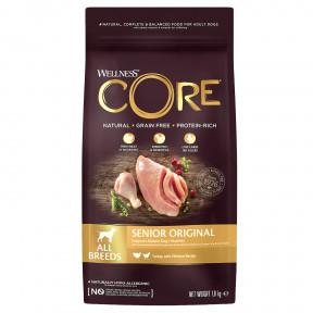 Сухой корм для пожилых собак Wellness CORE Senior Original All Breeds беззерновой, с индейкой с курицей 1,8 кг