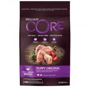 Сухой корм для щенков Wellness CORE Puppy Original Small & Medium Breed беззерновой, с индейкой с курицей (для мелких и средних пород) 10 кг