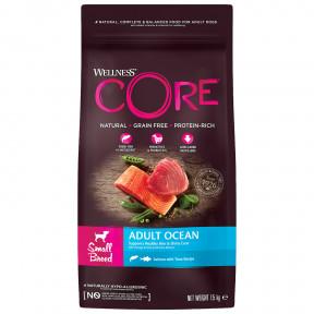 Сухой корм для собак Wellness CORE Adult Ocean Small Breed беззерновой, с лососем с тунцом (для мелких пород) 1,5 кг