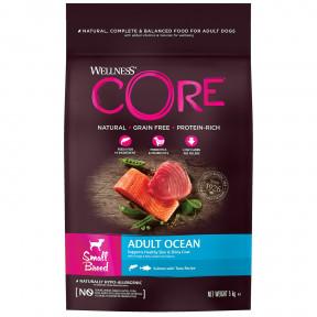 Сухой корм для собак Wellness CORE Adult Ocean Small Breed беззерновой, с лососем с тунцом (для мелких пород) 5 кг